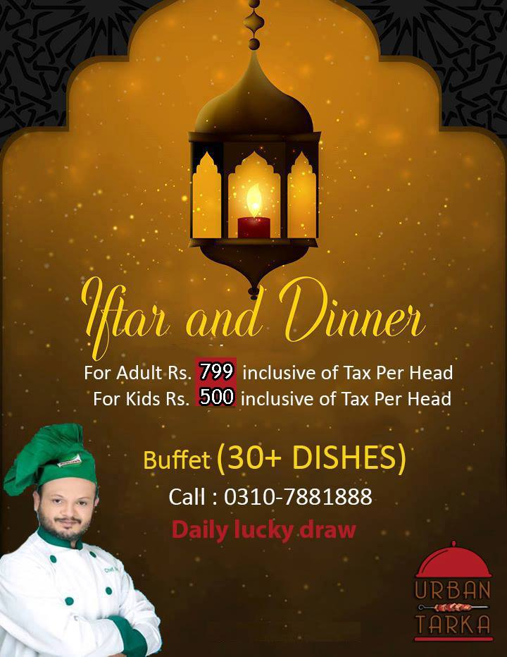 Urban Tarka Iftar And Dinner Buffet 2019
