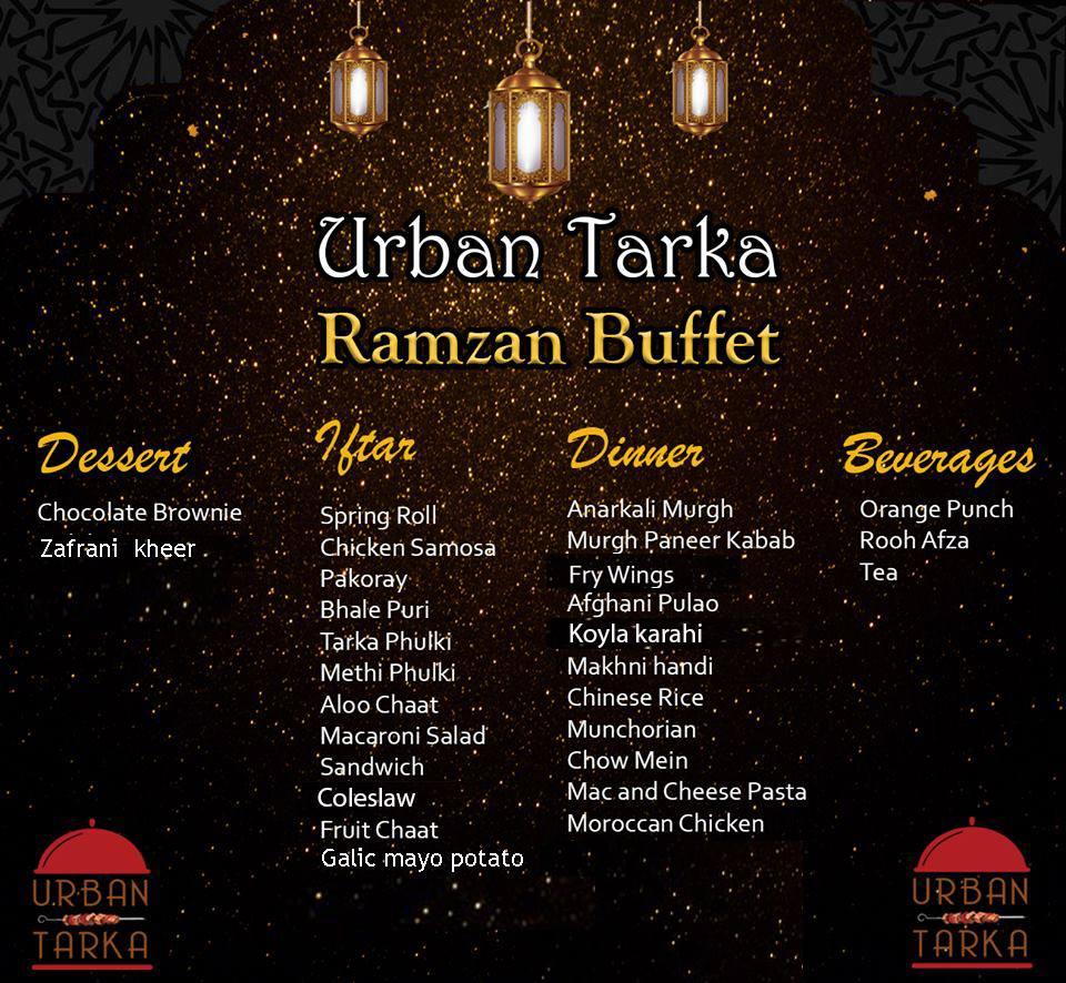 Urban Tarka Ramzan Buffet 2019