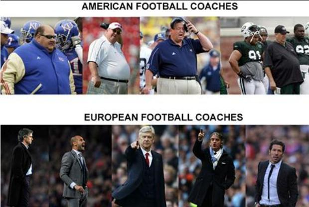 American Football Coach Vs European Football Coach