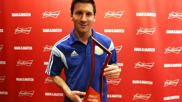 Argentina v Bosnia and Herzegovina Man Of the Match is Messi