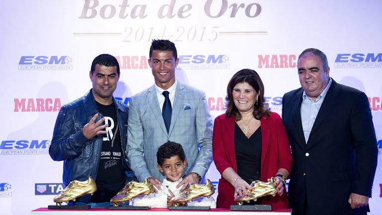 Cristiano Ronaldo Collected a Record Fourth Golden Shoe Award