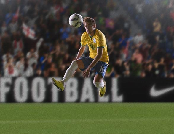 Neymar Jr Hitting The Ball