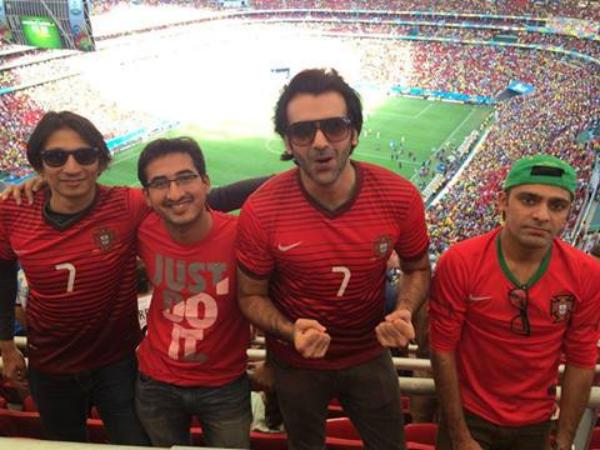 Pakistani Actor Hasan Ahmed In Brazil Enjoying Football World Cup 2014