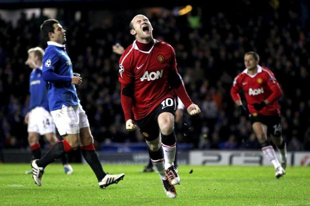Wayne Rooney Celebrating Scoring