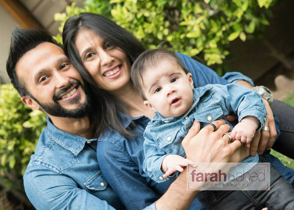 Ali Kazmi With His Wife And Cute Son