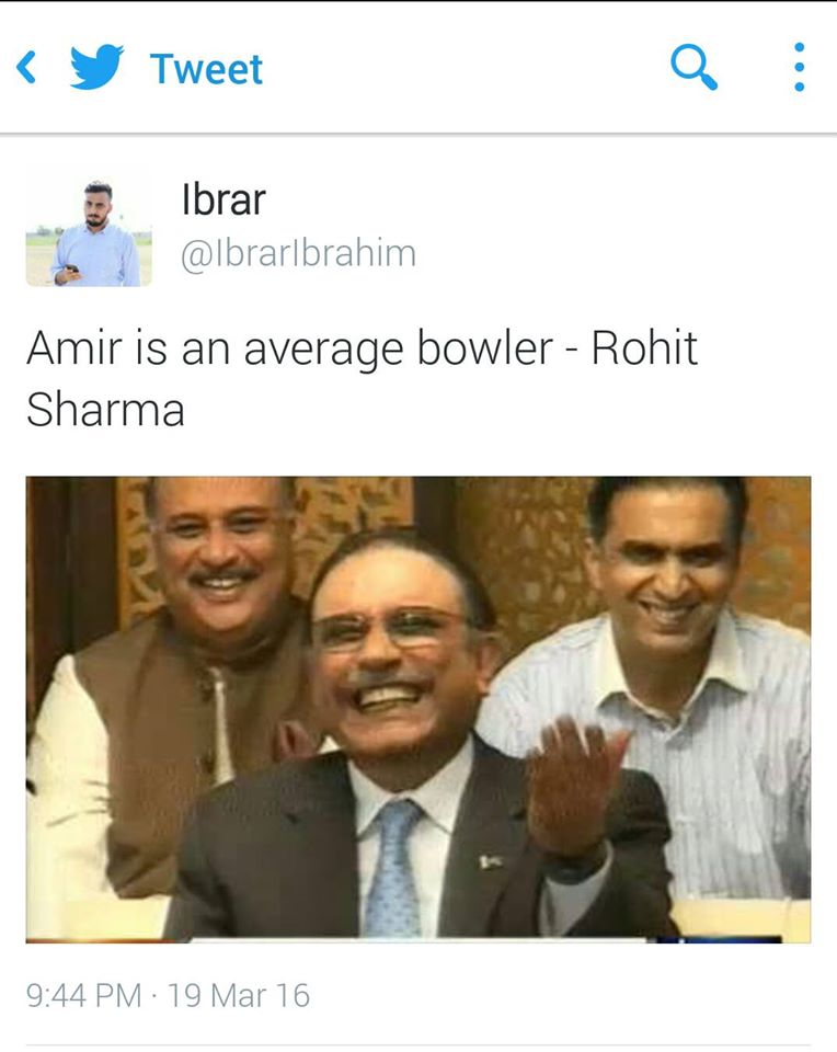 Amir is an average bowler