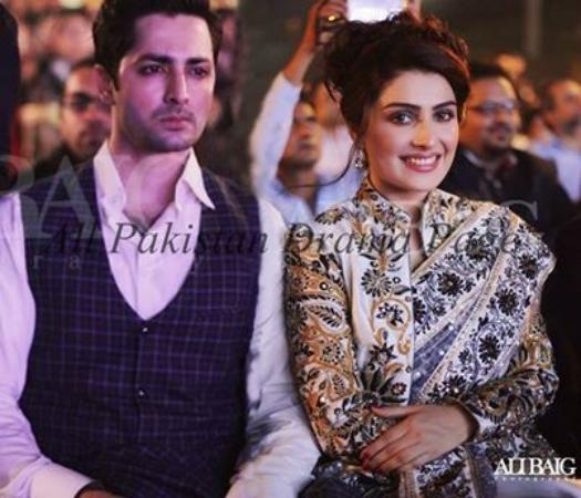 Ayeza Khan With Danish Taimoor At ARY Film Awards
