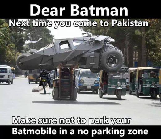 Batman...No Parking Zone