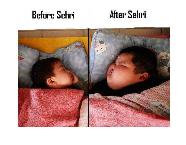 Before Sehri And After Sehri
