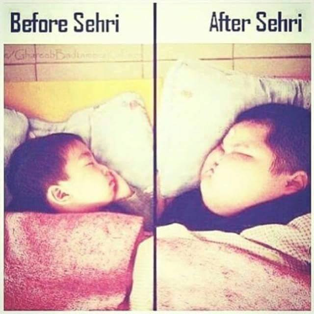 Before Sehri & After Sehri