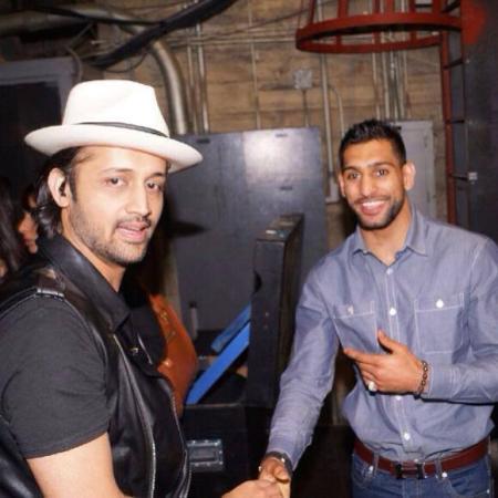 Boxer Amir Khan Meets Atif Aslam