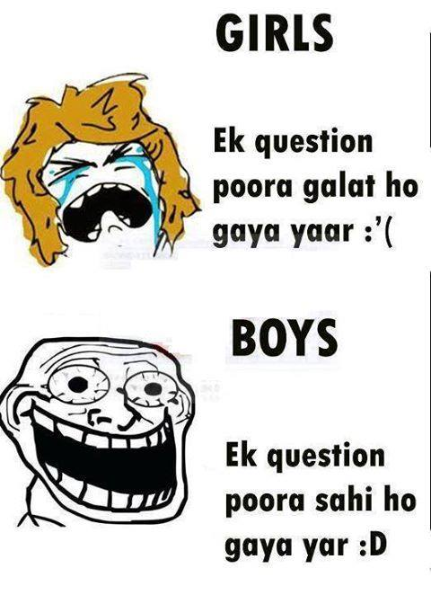 Boy Vs Girl In Exams