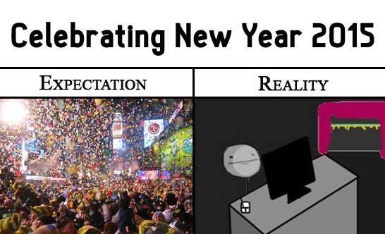 Celebration Of New Year Expectation Vs Reality