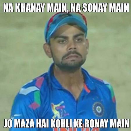 Crying Face Of Virat Kohli