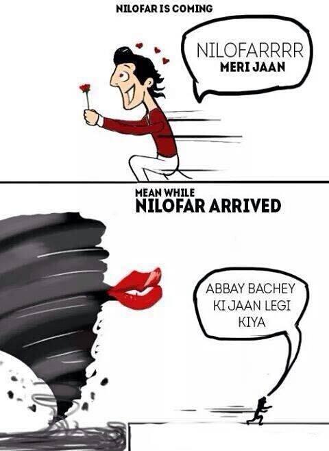 Cyclone Nilofar Funny Joke