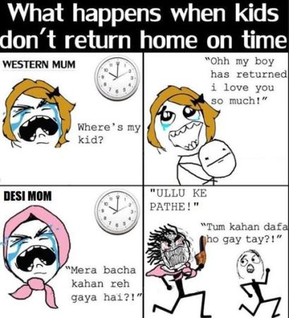 Difference in Pakistani Mom and Western Mom