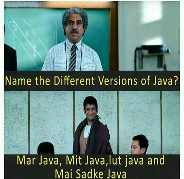 Different Versions Of Java