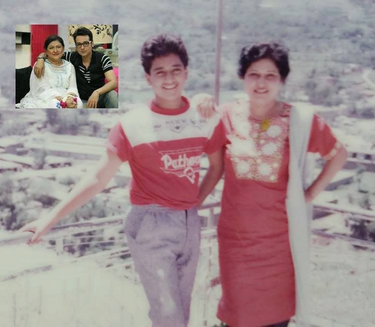 Faysal Quershi with Mother in Old Days