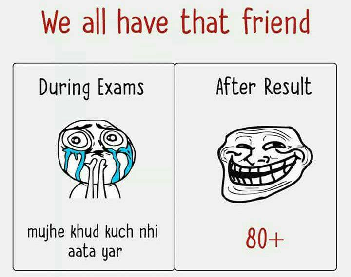Friend's In Exams