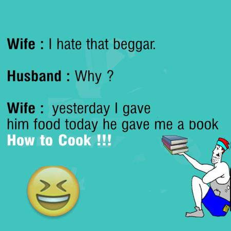 Funny Joke On Wife Cooking
