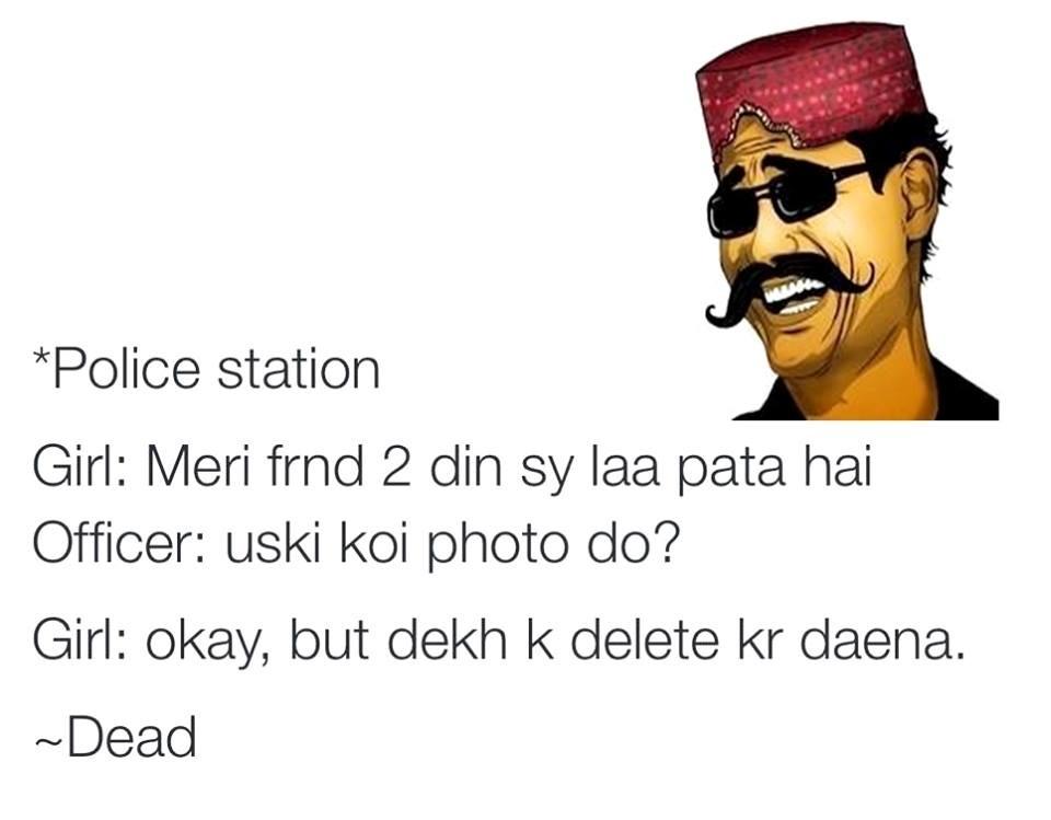Girl On Police Station