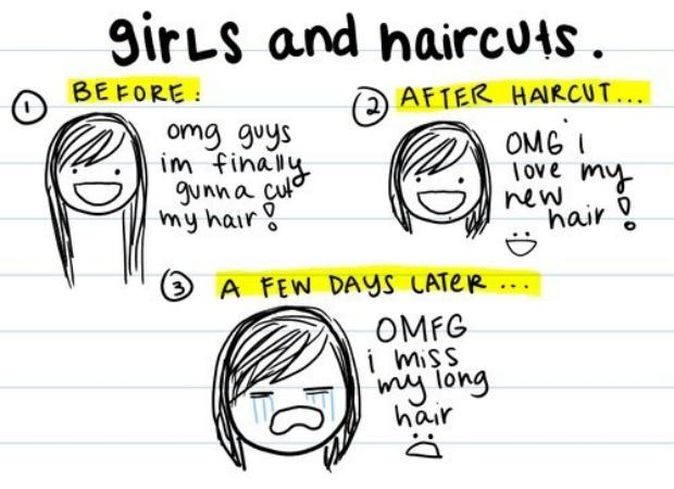 Girls and Hair Cuts