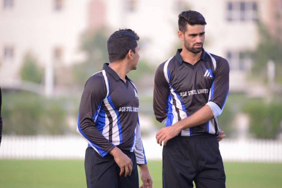 Hammad Azam And Anwar Ali During Exhibition Match In Dubai