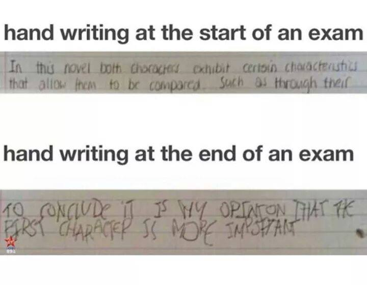 Handwriting In Exams