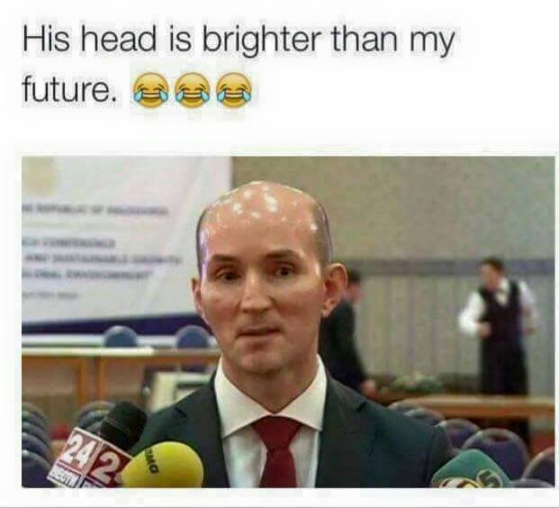His Head Is Brighter Than My Future