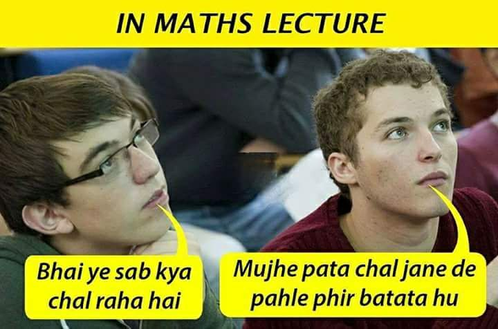 In Maths Lecture