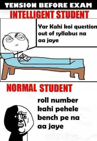 Intelligent Student Vs Normal Student