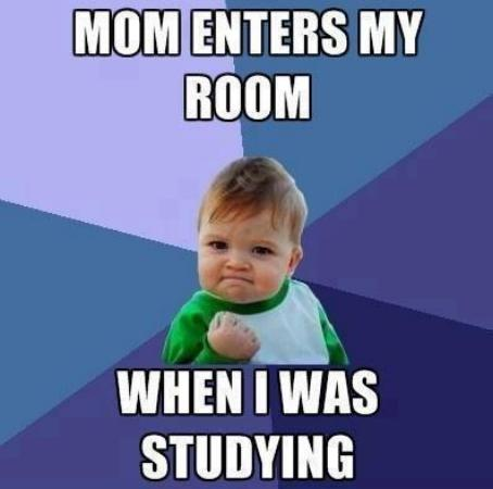 Mom Enters My Room