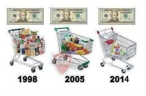 Wheelbarrow Full of Money to Buy Bread