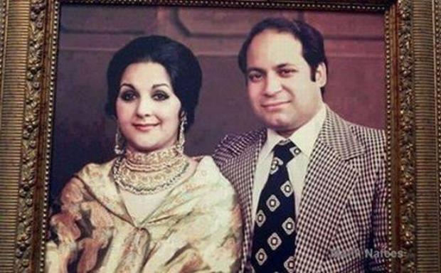 Nawaz sharif with wife kalsoom nawaz memorable picture for Bano qudsia children