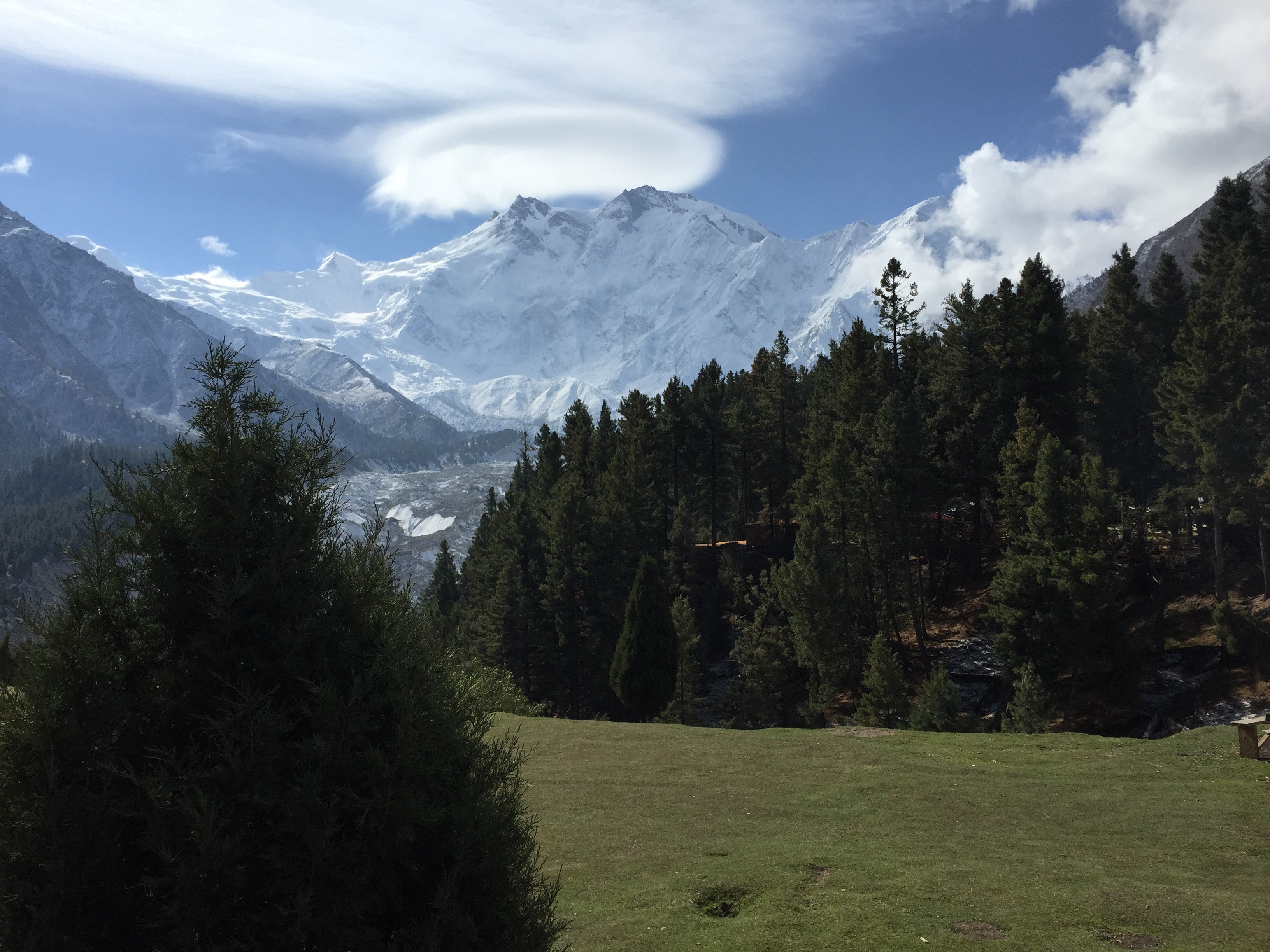 Northern Face Of Nanga Parbat from Fairy Meadows