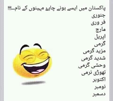 Pakistan Me Mahino Kai Naam