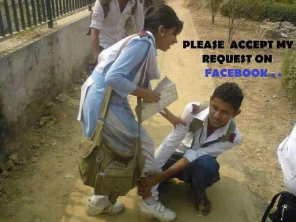 Please Accept My Request On Facebook