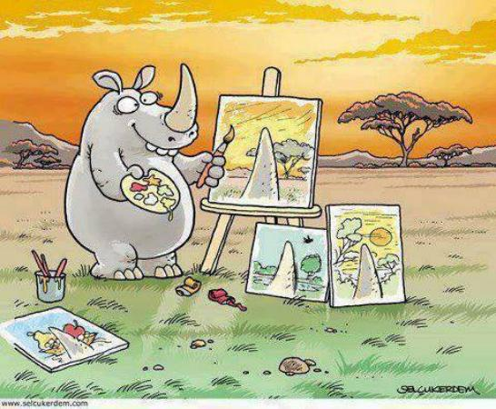 Rhino the Painter