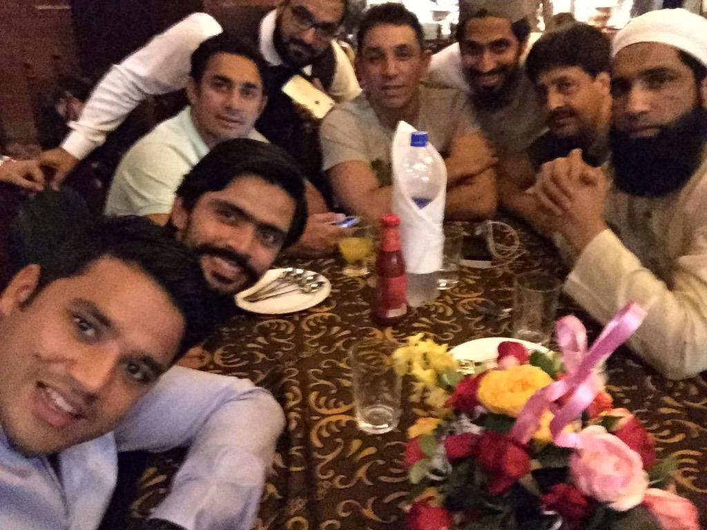 Saeed Ajmal Dinner With Legend Dinner At Lal Qila Lahore