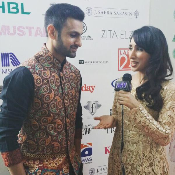 Shoaib Malik On Red Carpet Of Fashion Parade