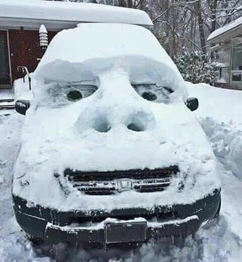 Snow Car Funny Images Amp Photos