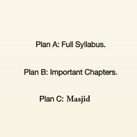 Student Plan Before Exams
