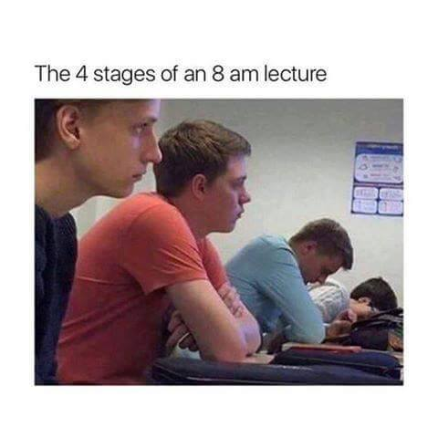 The 4 Stages At 8 A.M Lecture