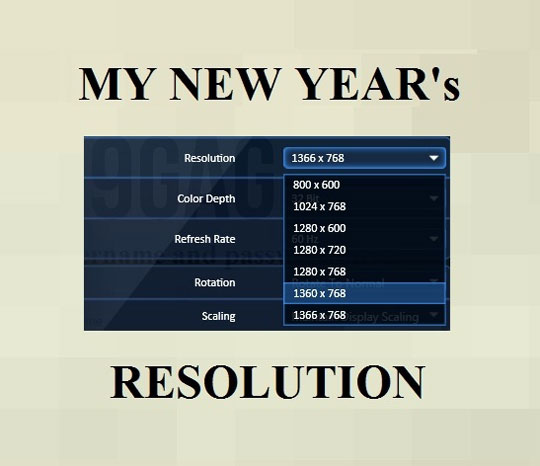 The Actual New Year Resolutions