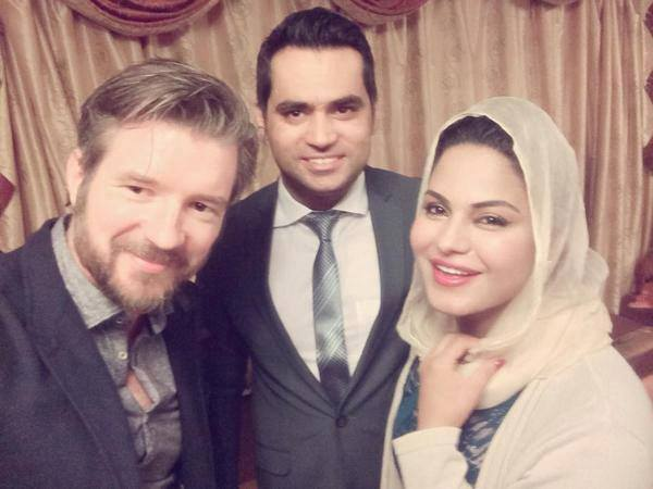 Veena Malik And Asad With New York Times Reporter Declan Walsh