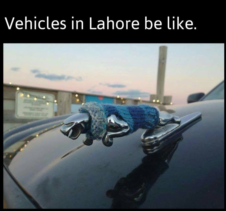 Vehicles In Lahore Be like