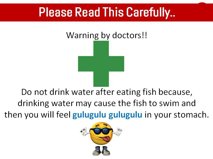Warning A Doctor Advice