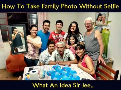 What An Idea To Take Family Photo