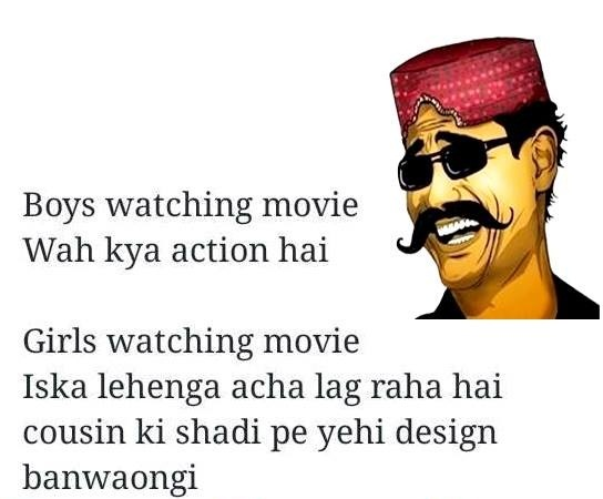 When Boys & Girls Watching Movie