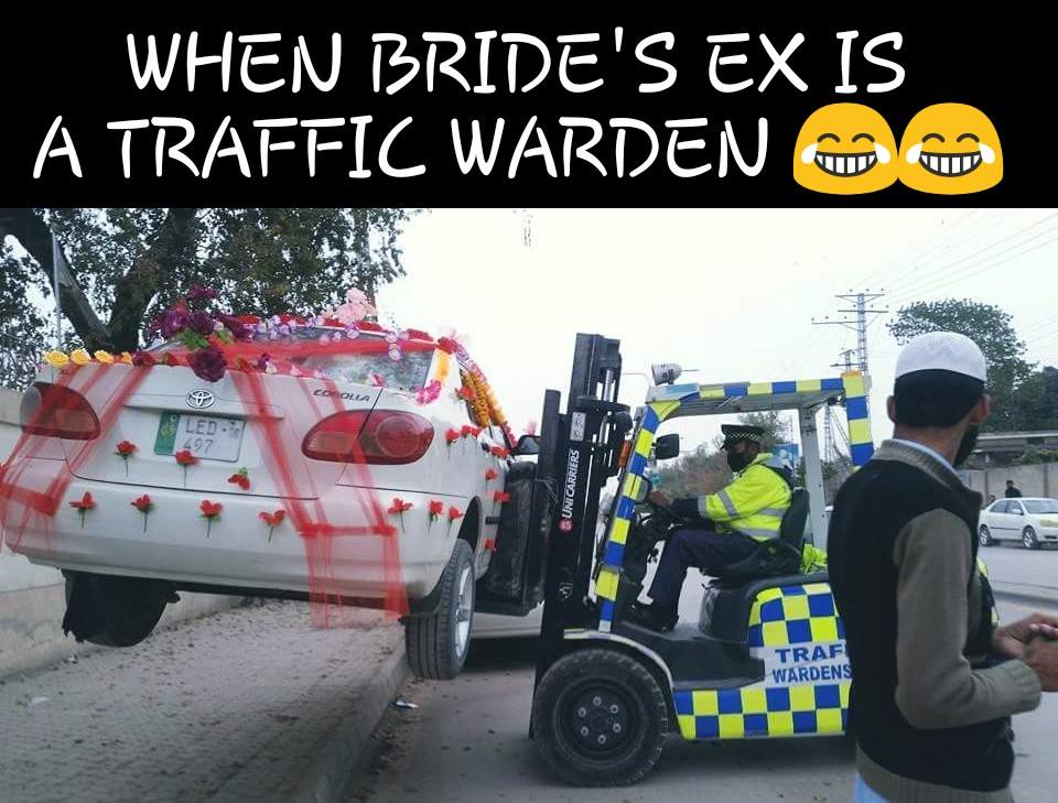 When Bride Ex Is Traffic Warden
